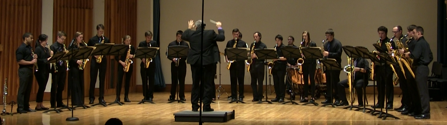 Saxophone Ensemble & Clarinet Choir: November 11, 2015